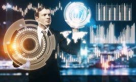 Έννοια μέλλοντος και analytics Στοκ Εικόνες