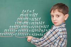 Έννοια μαθηματικών εκπαίδευσης Στοκ Φωτογραφία