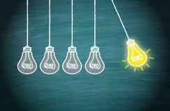 Έννοια μεγάλης ιδέας, καινοτομίας και δημιουργικότητας ελεύθερη απεικόνιση δικαιώματος