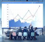 Έννοια μετοχών εισοδήματος αύξησης επιχειρησιακών πωλήσεων Στοκ Εικόνες
