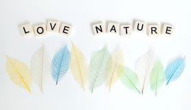 Έννοια μηνυμάτων φύσης αγάπης Στοκ Φωτογραφίες