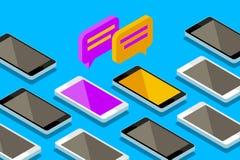 Έννοια μιας κινητής συνομιλίας ελεύθερη απεικόνιση δικαιώματος
