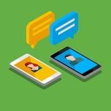Έννοια μιας κινητής συνομιλίας απεικόνιση αποθεμάτων