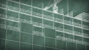 Έννοια μιας περιοχής οικοδόμησης στο σχολικό πίνακα διανυσματική απεικόνιση
