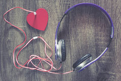 Έννοια μουσικής αγάπης στοκ εικόνα με δικαίωμα ελεύθερης χρήσης