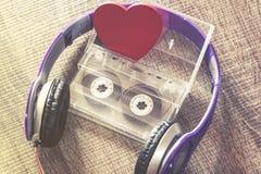 Έννοια μουσικής αγάπης Στοκ Εικόνες
