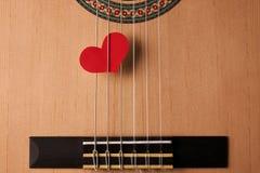 Έννοια μουσικής ημέρας και αγάπης βαλεντίνων ` s Στοκ Εικόνα