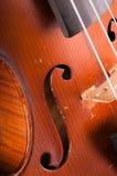 Έννοια μουσικής με το παλαιό βιολί Στοκ Φωτογραφίες