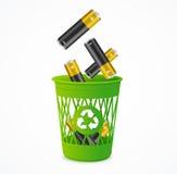 Έννοια μπαταριών ανακύκλωσης διάνυσμα Στοκ Εικόνες