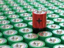 Έννοια μπαταριών Ισχύς και ενέργεια διανυσματική απεικόνιση