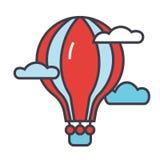 Έννοια μπαλονιών ζεστού αέρα απεικόνιση αποθεμάτων