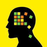 Έννοια μυαλού γραφική για την απώλεια μνήμης ή την ασθένεια του Alzheimer ` s Στοκ φωτογραφία με δικαίωμα ελεύθερης χρήσης
