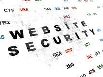 Έννοια μυστικότητας: Ασφάλεια ιστοχώρου σε ψηφιακό Στοκ εικόνα με δικαίωμα ελεύθερης χρήσης