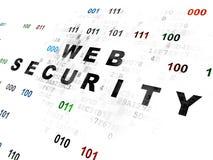 Έννοια μυστικότητας: Ασφάλεια Ιστού σε ψηφιακό Στοκ Εικόνα
