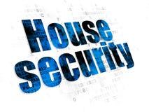 Έννοια μυστικότητας: Ασφάλεια σπιτιών σε ψηφιακό Στοκ Εικόνες