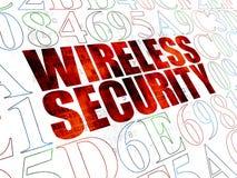 Έννοια μυστικότητας: Ασύρματη ασφάλεια σε ψηφιακό Στοκ Εικόνες