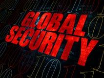 Έννοια μυστικότητας: Σφαιρική ασφάλεια σε ψηφιακό Στοκ Φωτογραφία