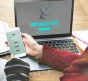 Έννοια ναυσιπλοΐας ΠΣΤ μετάδοσης στοιχείων ραδιοφωνικής μετάδοσης Στοκ εικόνες με δικαίωμα ελεύθερης χρήσης
