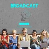Έννοια ναυσιπλοΐας ΠΣΤ μετάδοσης στοιχείων Boardcast Στοκ εικόνα με δικαίωμα ελεύθερης χρήσης