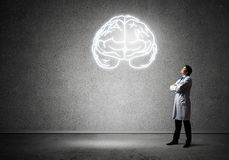 Έννοια νευρολογίας και έρευνας εγκεφάλου στοκ εικόνες