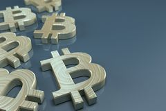 Έννοια νομίσματος Bitcoin Στοκ Φωτογραφία