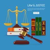 Έννοια νόμου και δικαιοσύνης ελεύθερη απεικόνιση δικαιώματος