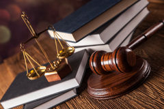 Έννοια νόμου, κλίμακες Στοκ Εικόνες