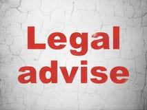 Έννοια νόμου: Νομικός συμβουλεψτε για το υπόβαθρο τοίχων διανυσματική απεικόνιση
