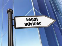 Έννοια νόμου: νομικός σύμβουλος σημαδιών στην οικοδόμηση του υποβάθρου διανυσματική απεικόνιση