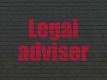 Έννοια νόμου: Νομικός σύμβουλος στο υπόβαθρο τοίχων απεικόνιση αποθεμάτων