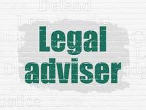 Έννοια νόμου: Νομικός σύμβουλος στο υπόβαθρο τοίχων ελεύθερη απεικόνιση δικαιώματος