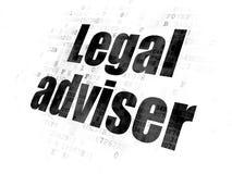 Έννοια νόμου: Νομικός σύμβουλος στο ψηφιακό υπόβαθρο διανυσματική απεικόνιση