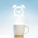 Έννοια ξυπνητηριών καφέ Στοκ Φωτογραφίες