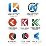 Έννοια λογότυπων γραμμάτων Κ Στοκ Εικόνες