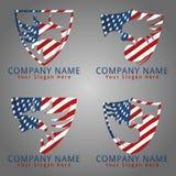 Έννοια λογότυπων φρουράς της Αμερικής γερακιών Στοκ εικόνα με δικαίωμα ελεύθερης χρήσης