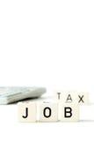 Έννοια οικονομίας υπολογιστών φορολογικών χρημάτων εργασίας Στοκ Φωτογραφίες