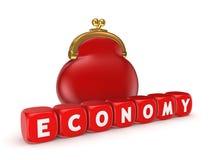 Έννοια οικονομίας. απεικόνιση αποθεμάτων