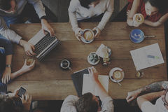 Έννοια ομάδας γραφείων επιχειρησιακών πληροφοριών 'brainstorming' Στοκ Φωτογραφία