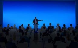 Έννοια ομάδας σεμιναρίου συνεδρίασης των επιχειρησιακών διασκέψεων Στοκ εικόνα με δικαίωμα ελεύθερης χρήσης