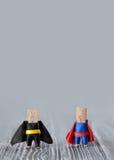 Έννοια ομάδων ηγεσίας Clothespins superheroes Στοκ Φωτογραφίες