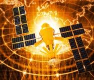 Έννοια δορυφορικών επικοινωνιών Στοκ Φωτογραφίες