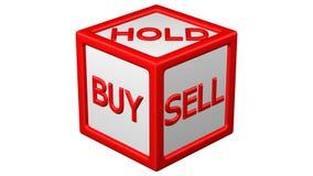 Έννοια: Ο φραγμός με τις λέξεις αγοράζει, κρατά, στροφή πώλησης γύρω τρισδιάστατη απόδοση ελεύθερη απεικόνιση δικαιώματος