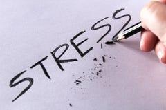 Έννοια πίεσης Πίεση λέξης που γράφεται στη Λευκή Βίβλο με το σπασμένο μολύβι Στοκ φωτογραφίες με δικαίωμα ελεύθερης χρήσης