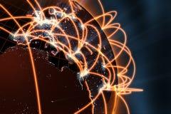 Έννοια παγκόσμιων δικτύων Στοκ φωτογραφία με δικαίωμα ελεύθερης χρήσης