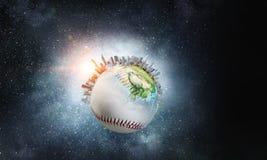 Έννοια παιχνιδιών μπέιζ-μπώλ Στοκ εικόνα με δικαίωμα ελεύθερης χρήσης