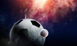 Έννοια παιχνιδιών ποδοσφαίρου Στοκ Εικόνες