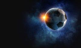 Έννοια παιχνιδιών ποδοσφαίρου Στοκ εικόνα με δικαίωμα ελεύθερης χρήσης