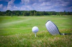 Έννοια παιχνιδιών γκολφ Στοκ Εικόνες