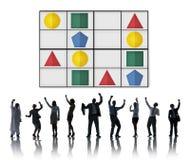 Έννοια παιχνιδιών ελεύθερου χρόνου επίλυσης προβλήματος γρίφων Sudoku Στοκ Εικόνες
