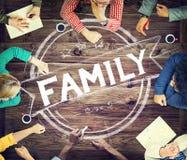Έννοια παραγωγής Parenting οικογενειακής σχέσης Στοκ εικόνα με δικαίωμα ελεύθερης χρήσης